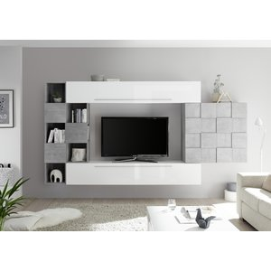 Benvenuto Design Bex TV-wandmeubel 5 Wit / Beton