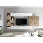 Bex TV-wandmeubel 5 Wit / Eiken