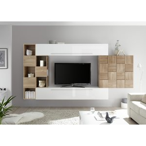Benvenuto Design Bex TV-wandmeubel 5 Wit / Eiken