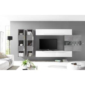 Benvenuto Design Bex TV-wandmeubel 12 Wit / Beton