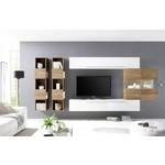 Bex TV-wandmeubel 12 Wit / Eiken