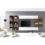 Bex TV-wandmeubel 12 Wit / Walnoot