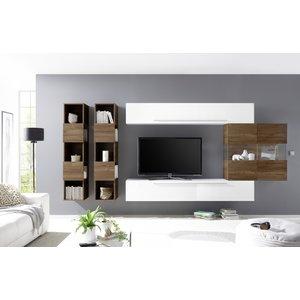 Benvenuto Design Bex TV-wandmeubel 12 Wit / Walnoot