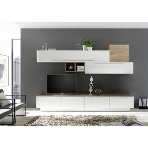 Benvenuto Design Bex TV-wandmeubel 16 Wit / Eiken