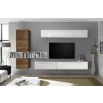 Bex TV-wandmeubel 18 Wit / Walnoot