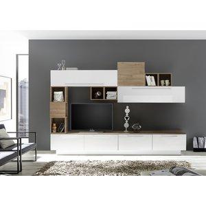 Benvenuto Design Bex TV-wandmeubel 19 Wit / Eiken