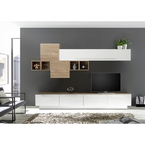 Benvenuto Design Bex TV-wandmeubel 20 Wit / Eiken
