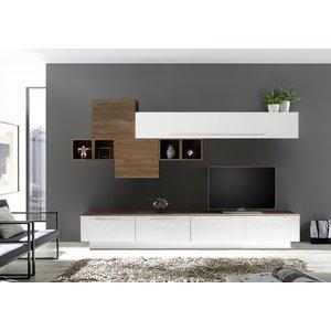 Benvenuto Design Bex TV-wandmeubel 20 Wit / Walnoot