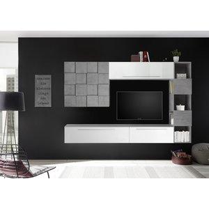 Benvenuto Design Bex TV-wandmeubel 24 Wit / Beton