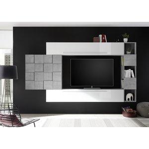 Benvenuto Design Bex TV-wandmeubel 25 Wit / Beton