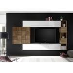 Bex TV-wandmeubel 25 Wit / Walnoot