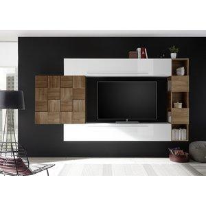 Benvenuto Design Bex TV-wandmeubel 25 Wit / Walnoot