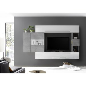 Benvenuto Design Bex TV-wandmeubel 26 Wit / Beton