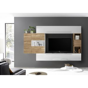 Benvenuto Design Bex TV-wandmeubel 26 Wit / Eiken