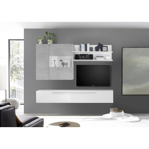 Benvenuto Design Bex TV-wandmeubel 27 Wit / Beton
