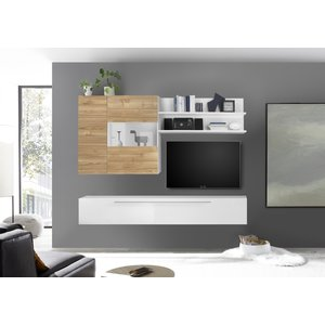 Benvenuto Design Bex TV-wandmeubel 27 Wit / Eiken