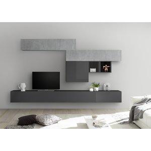 Benvenuto Design Bex TV-wandmeubel 35 Beton / Grijs