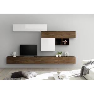 Benvenuto Design Bex TV-wandmeubel 35 Walnoot