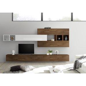 Benvenuto Design Bex TV-wandmeubel 37 Walnoot