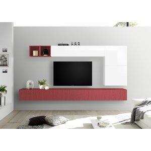 Benvenuto Design Bex TV-wandmeubel 42 Rood