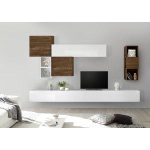 Benvenuto Design Bex TV-wandmeubel 45 Walnoot