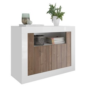 Benvenuto Design Urbino Dressoir 110 cm Wit / Walnoot