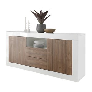 Benvenuto Design Urbino Dressoir 184 cm Wit / Walnoot