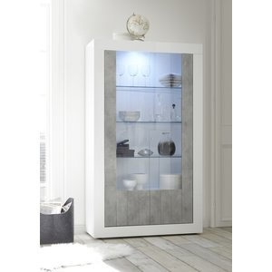 Benvenuto Design Urbino Vitrinekast Wit / Beton