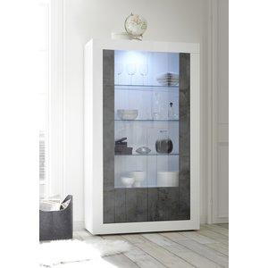 Benvenuto Design Urbino Vitrinekast Wit / Oxid