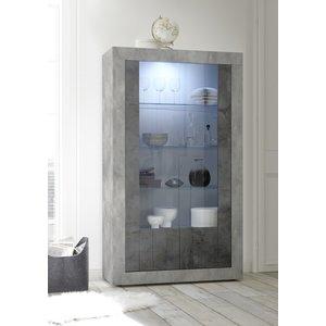 Benvenuto Design Urbino Vitrinekast Beton / Oxid