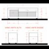 Urbino TV-meubel Wit / Beton