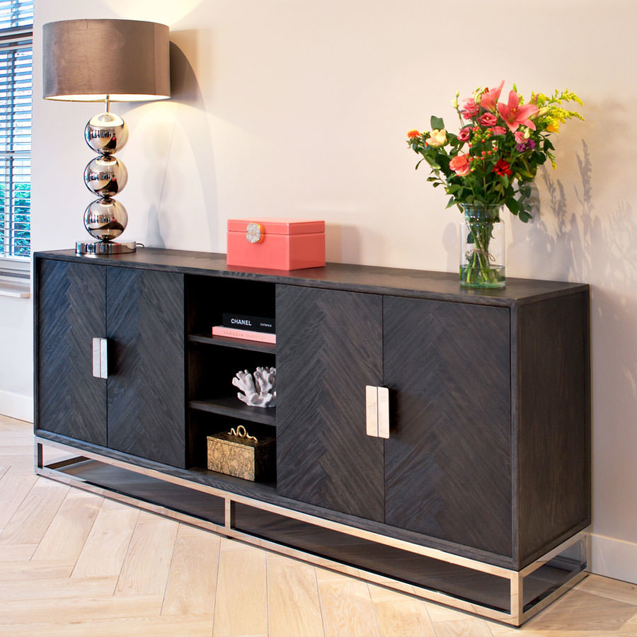 Richmond Interiors Blackbone Dressoir Zilver