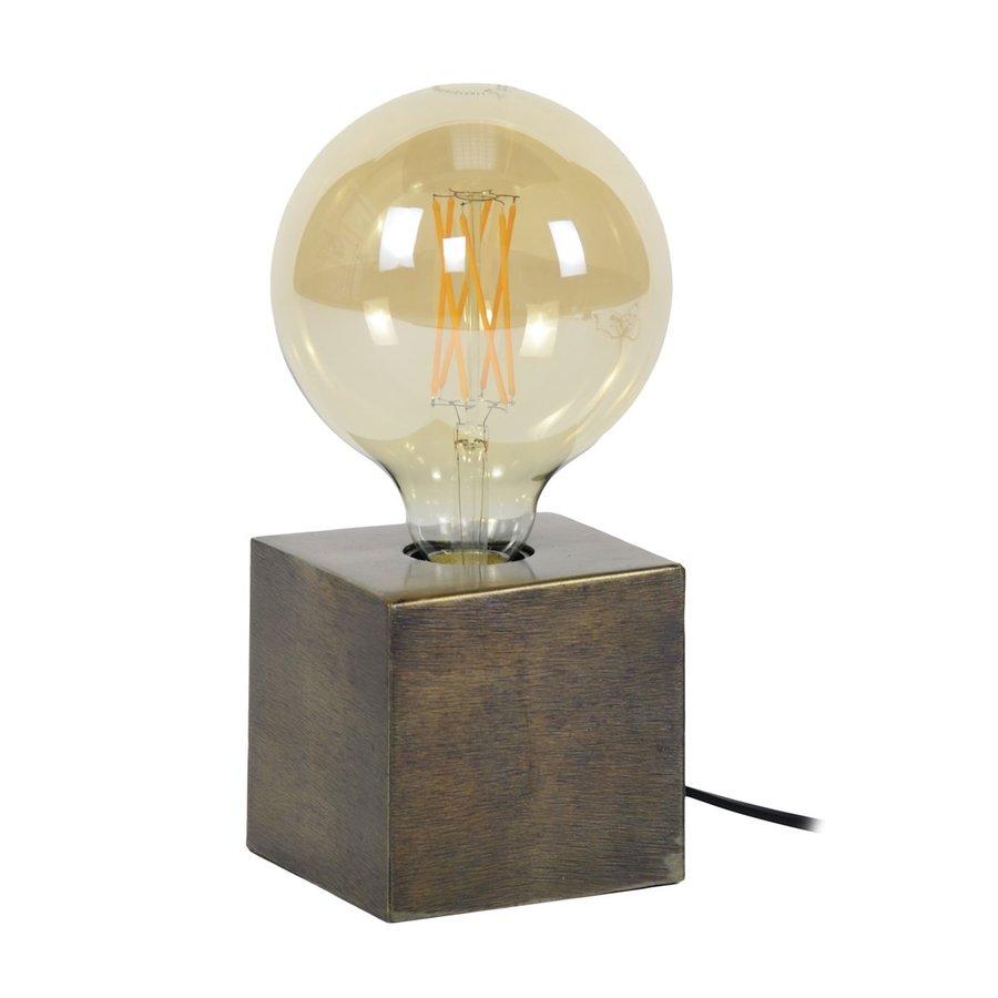Block Tafellamp Brons