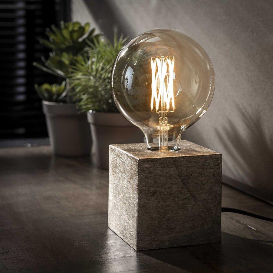 Block Tafellamp Nikkel