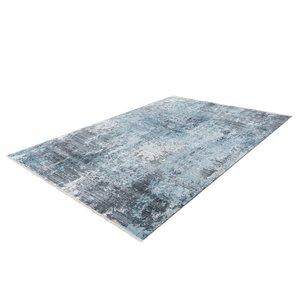 Lalee Medellin Vloerkleed 80 x 150 cm Zilver / Blauw