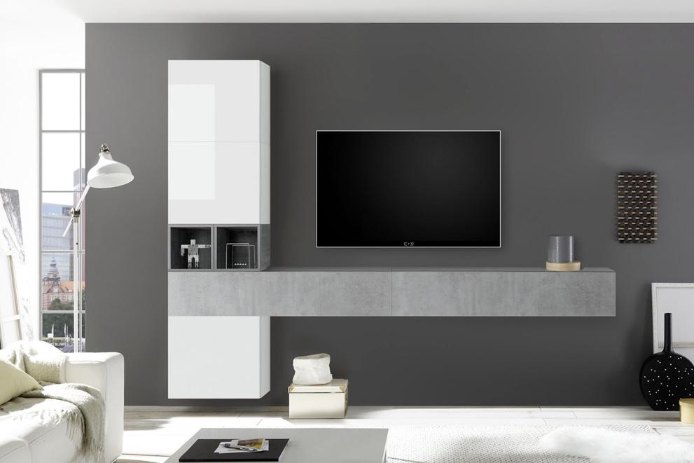 Benvenuto Design Bex TV-wandmeubel 50 Beton kopen