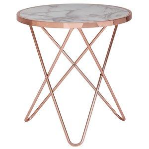 Sky Style Marmer Copper Bijzettafel White