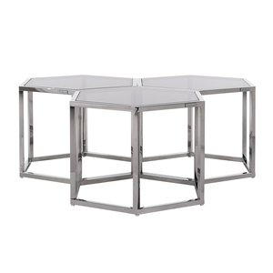 Richmond Interiors Penta Salontafel Set Zilver