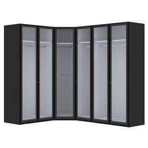 Jutzler Smoke Hoek Kledingkast Rookglas 6 deurs
