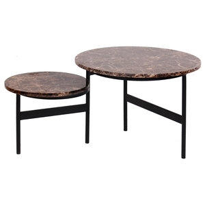 Richmond Interiors Dalton Salontafel Set Rond Draaibaar