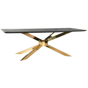 Richmond Interiors Blackbone Matrix Eettafel Goud 240 x 100 cm
