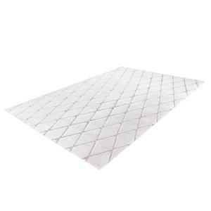 Kayoom Vivica 80 x 150 cm Vloerkleed Wit / Roze 225