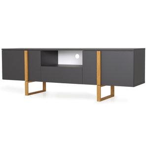 Tenzo Birka TV-meubel Antraciet / Eiken