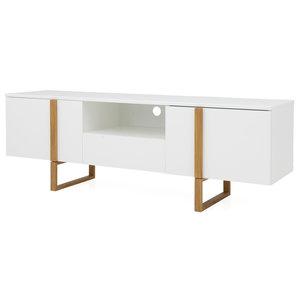Tenzo Birka TV-meubel Wit / Eiken
