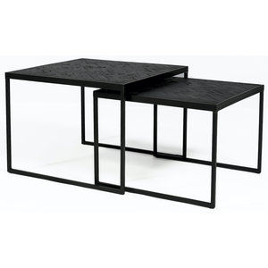 Davidi Design Black Herringbone Salontafel Set Large