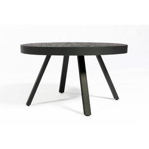 Lions Design Black Herringbone Ronde Salontafel Ø74