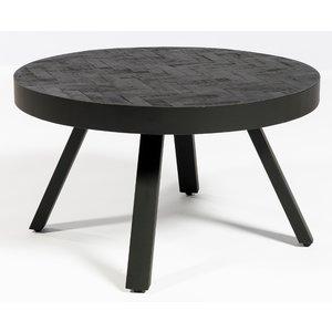 Lions Design Black Herringbone Ronde Salontafel Ø58