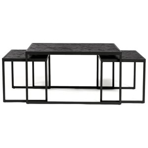 Davidi Design Black Herringbone Salontafel Set XL
