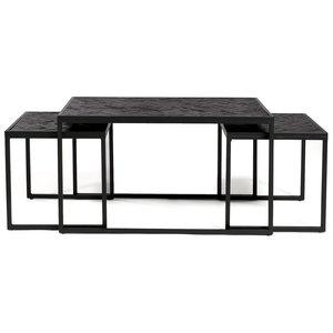 Lions Design Black Herringbone Salontafel Set XL