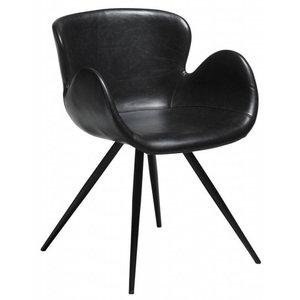 Dan Form Gaia Eetkamerstoel 2st. Vintage Zwart